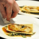Venison Raviolo with Swiss Chard